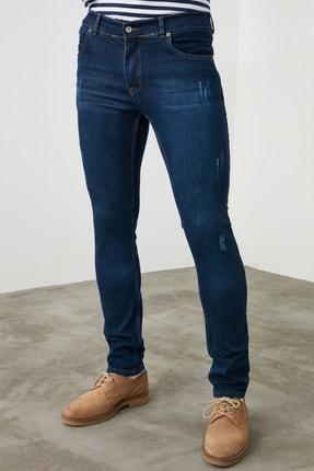 TRENDYOL MAN Indigo Erkek Skinny Tırmıklı Jeans TMNSS20JE0331 3
