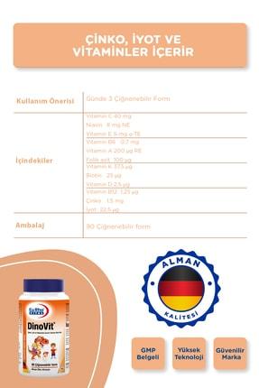 Eurho Vital Dinovit 90 Çiğnenebilir Tablet - Portakal 3