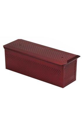 EKMAŞ Kırmızı Ekmek Kalıbı, 10x10x30 Cm 1