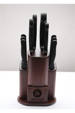 Sürdövbısa 10'lü Stantlı (kütüklü) Orjinal Sürmene Kaliteli Mutfak Bıçak Seti 0