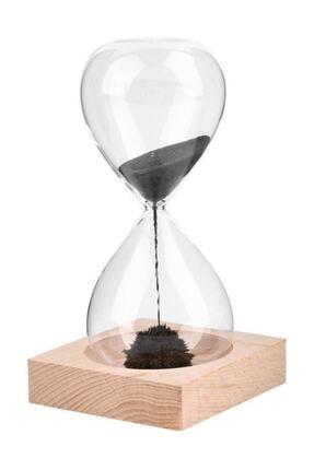 Viselia Kum Saati Mıknatıslı Kum Saati Ahşap Standlı Manyetik Kum Saati 0
