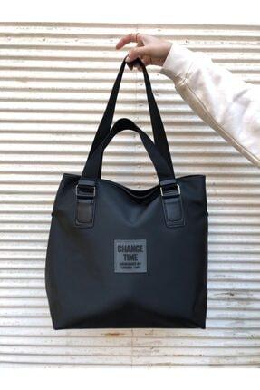 Lebina Kadın Siyah Shopper Omuz Çantası 3