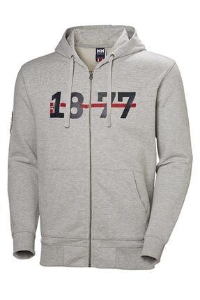 Picture of Erkek Gri Hh 1877 Fz Hoodıe Sweatshirt