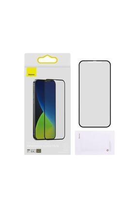 Baseus 2x Tam Ekran 0,25 Mm Çerçeveli Buzlu Temperli Cam Iphone 12 Mini Siyah 2
