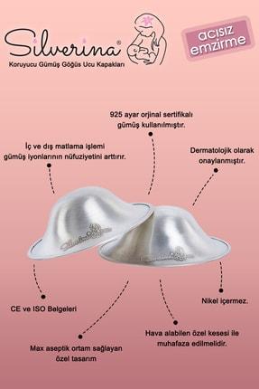 Silverina Koruyucu Gümüş Göğüs Ucu Kapakları 2