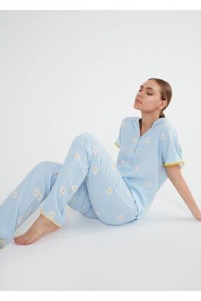 Suwen Daisy Maskulen Pijama Takımı 0