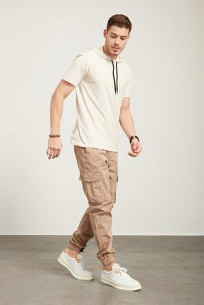 Tena Moda Erkek Kar Melanj Kapüşonlu Düz Tişört 3