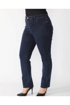 Kadın Mavi Büyük Beden Pantolon 42~44~46~48~50~52