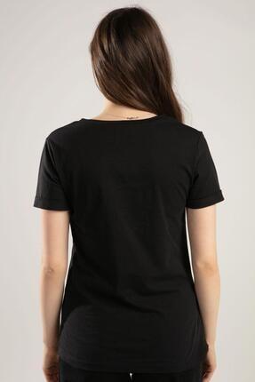 Pattaya Kadın V Yaka Kelebek Detaylı Duble Kol Tişört Y20s134-1138 3