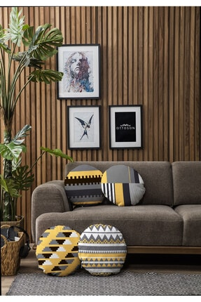 Ottoson Home Özel Tasarım Yuvarlak 4lü Kırlent Kılıfı 1