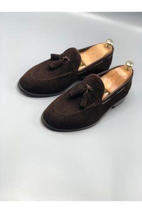 Erkek Kahve Süet Loafer Ayakkabı 9140CSS