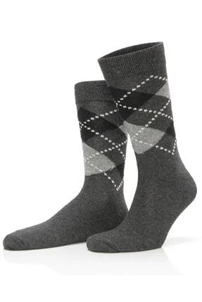 TAMPAP 12'li Paket Ekonomik Ekose Desen Pamuklu Erkek Çorap 0