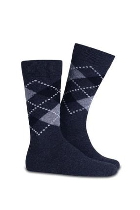 TAMPAP 12'li Paket Ekonomik Ekose Desen Pamuklu Erkek Çorap 1