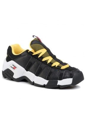Tommy Hilfiger Erkek Siyah Tommy Jeans Heritage Chunky Sneaker Em0em00342 U005145 1