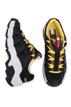 Tommy Hilfiger Erkek Siyah Tommy Jeans Heritage Chunky Sneaker Em0em00342 U005145 2