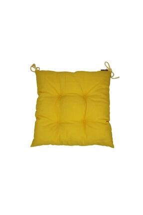 Konforcu Sarı Duck Keten 4'lü Fırsat Set Sandalye Minderi 1