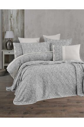 Hayal Evi Tek Kişilik Yatak Örtüsü Takımı Gümüş 2
