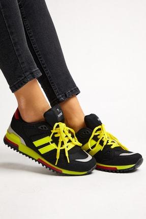 Tonny Black Siyah Sarı Unisex Sneaker TB282-0 2