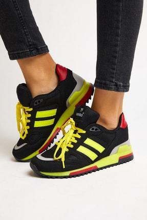 Tonny Black Siyah Sarı Unisex Sneaker TB282-0 4