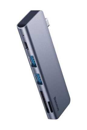 Baseus Harmonica Hub Type C to USB SD TF PD Dönüştürücü 0