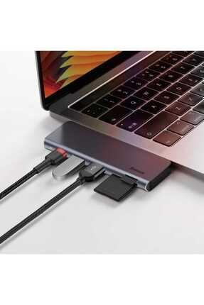 Baseus Harmonica Hub Type C to USB SD TF PD Dönüştürücü 4