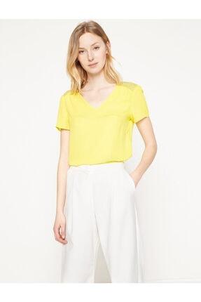 Koton Kadın Sarı Bluz 7YAK63743EW 0