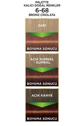 Palette Kalıcı Doğal Renkler 6-68 Bronz Çikolata 4
