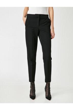 Koton Kadın Siyah Cepli Pantolon 2