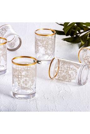 Karaca Sare 6lı Kahve Yanı Bardağı Gold 2