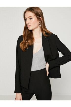 Koton Kadın Siyah Ceket 8YAK52422UW 2