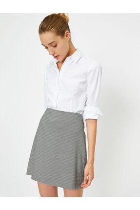 Koton Kadın Beyaz Uzun Kollu Gömlek 0