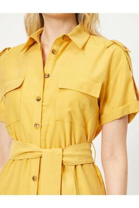 Koton Cep Detayli Gömlek Elbise 4