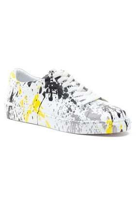 GRADA Kadın Renkli Baskılı Hakiki Deri  Sneaker Ayakkabı 2