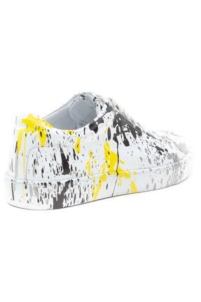 GRADA Kadın Renkli Baskılı Hakiki Deri  Sneaker Ayakkabı 4