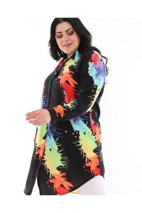 LBB FASHİON Kadın Siyah Tunik Gömlek 1