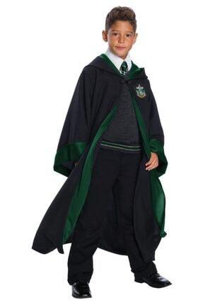 Erkek Çocuk Siyah Harry Potter Slytherin Cübbesi A01