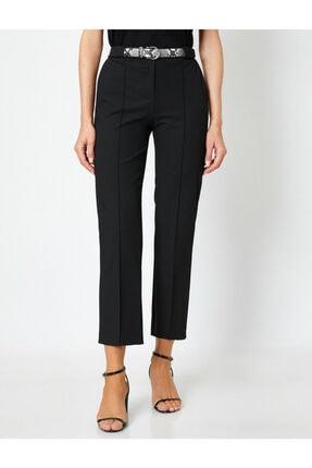 Koton Kadın Siyah Kemer Detaylı Pantolon 2