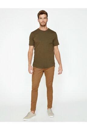 Koton Erkek Kahverengi Dar Kesim Pantolon 1
