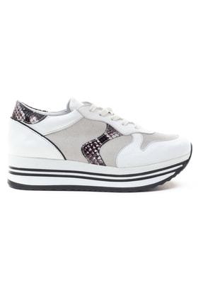 GRADA Kadın Beyaz Hakiki Deri Bağcıklı Sneaker 1