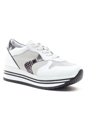 GRADA Kadın Beyaz Hakiki Deri Bağcıklı Sneaker 2