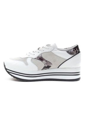 GRADA Kadın Beyaz Hakiki Deri Bağcıklı Sneaker 3
