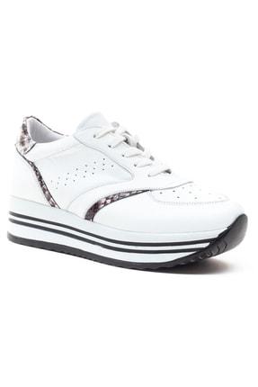 GRADA Beyaz Hakiki Deri Kalın Taban Sneaker Ayakkabı 2