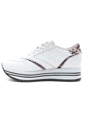 GRADA Beyaz Hakiki Deri Kalın Taban Sneaker Ayakkabı 3