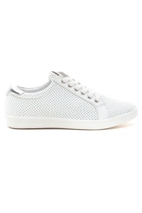 GRADA Kadın Beyaz Mikro Delikli Hakiki Deri Günlük Sneaker Ayakkabı 1