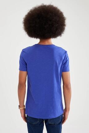 Defacto Slim Fit V Yaka Basic Kısa Kollu Tişört 3