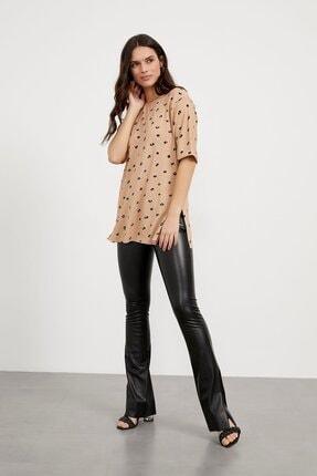 Arma Life Kadın Kahverengi Desenli Kaşkorse T-shirt 1