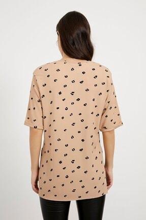 Arma Life Kadın Kahverengi Desenli Kaşkorse T-shirt 4