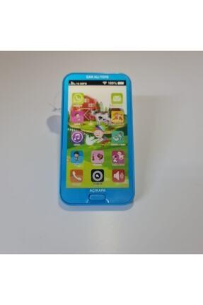 Can Ali Toys Çocuk Mavi Sesli Işıklı Müzikli Oyuncak Telefon 0
