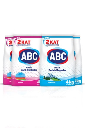 ABC Matik Canlı Renkler + Dağ Ferahlığı 4 Kg 4'lü Set 2