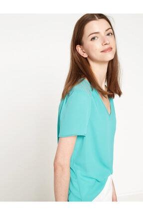 Koton Kadın Yeşil Bluz 7YAK63743EW 1